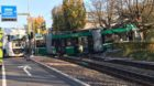 Der Unfallort bei der Rennbahnkreuzung in Muttenz ist für Trams wieder befahrbar.