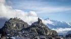 ARCHIVBILD ZUR BUNDESRAETLICHEN UNTERSTUETZUNG FUER SION 2026 --- Le chateau de Tourbillon et Valere, la ville de Sion et les