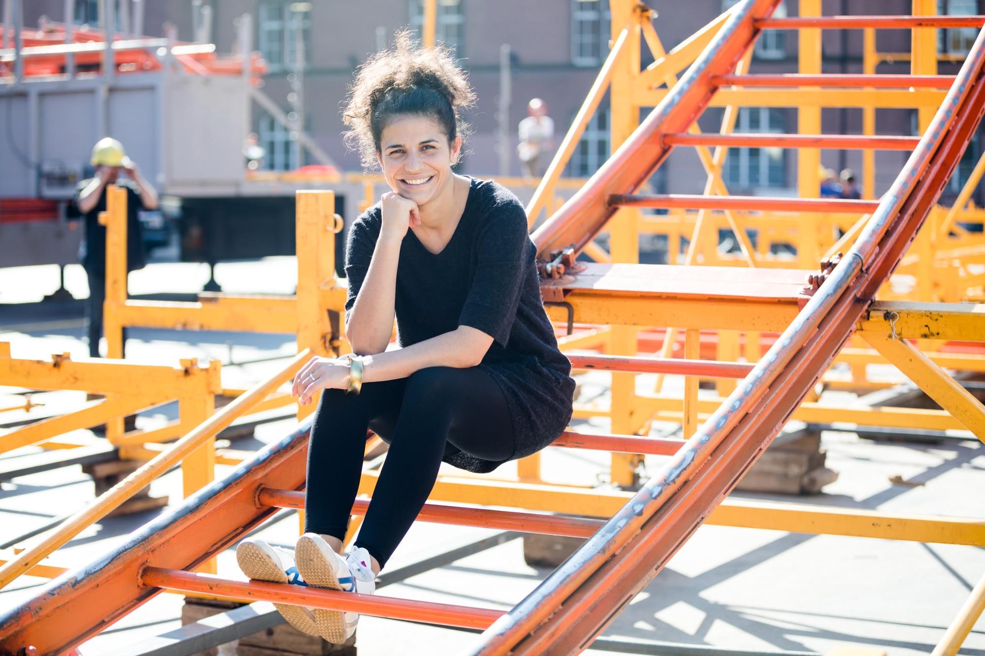 Jasmin Albash, der musikalische Kopf von The RK auf dem Kasernen Areal.