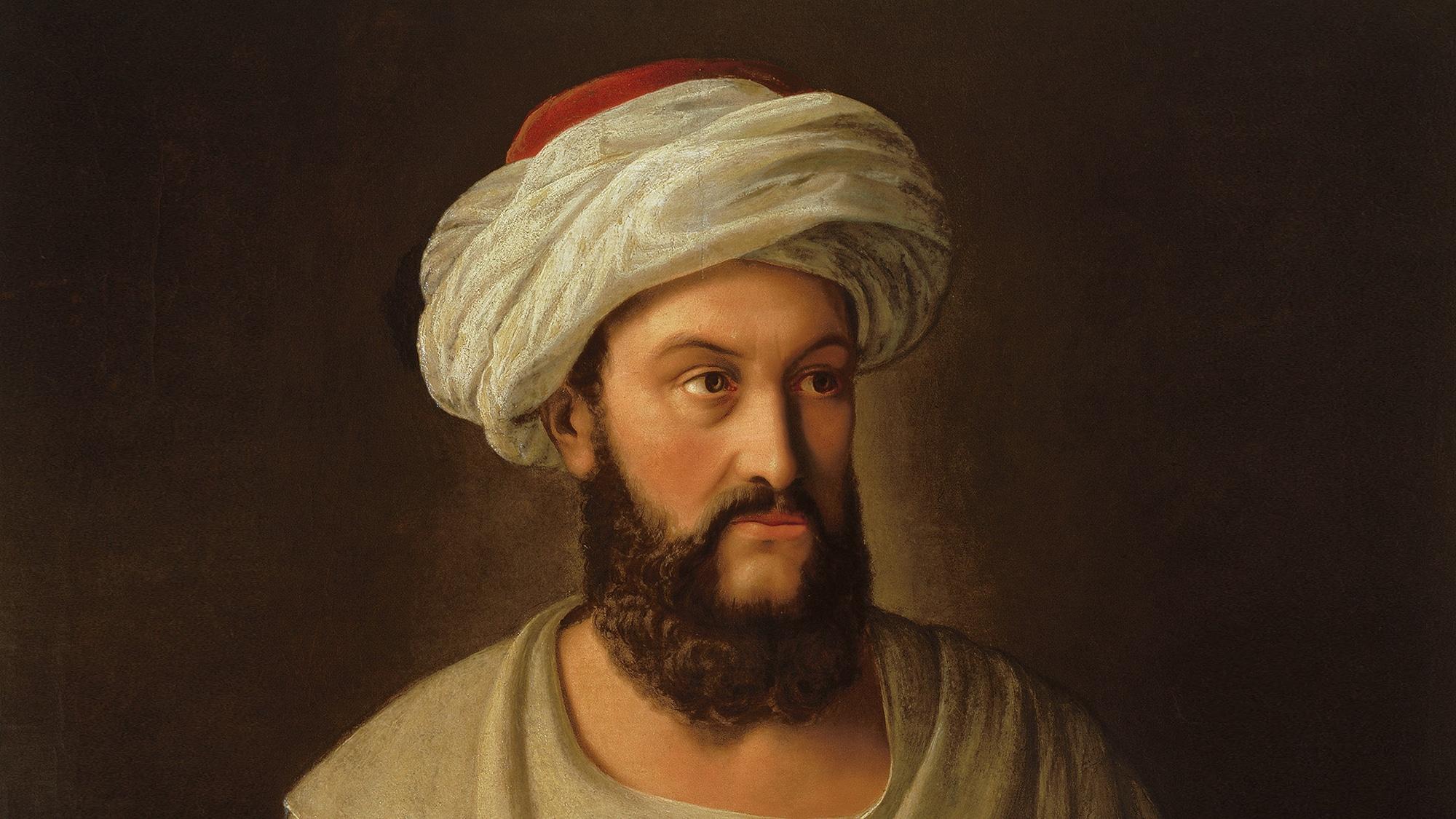 Der Basler Kaufmannssohn Johann Ludwig Burckhardt als indischer Kaufmann Ibrahim ibn Abdallah.