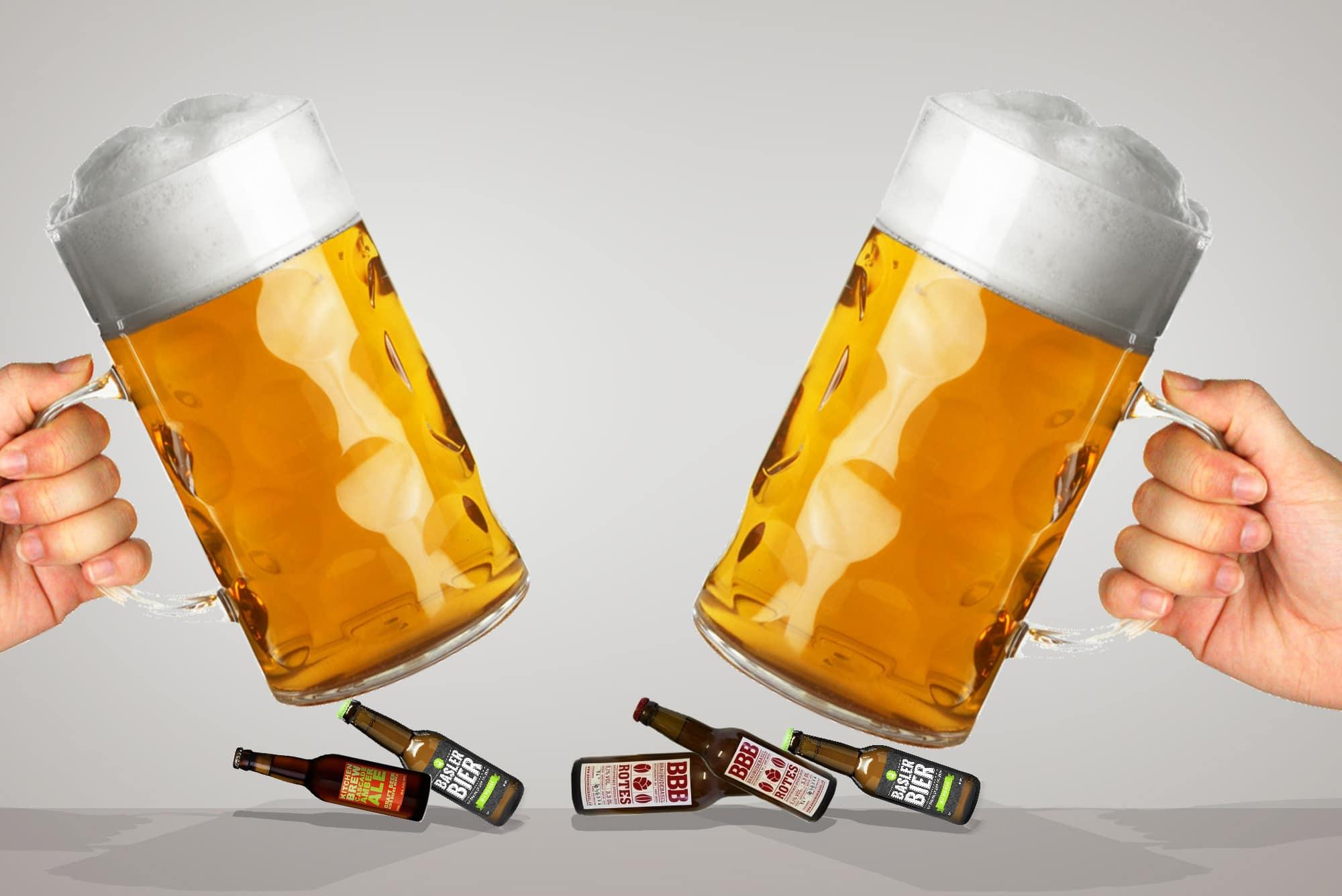 Trotz neuer Vorlieben: Das meiste Bier in Basler Beizen stammt nach wie vor von Grossbrauereien.