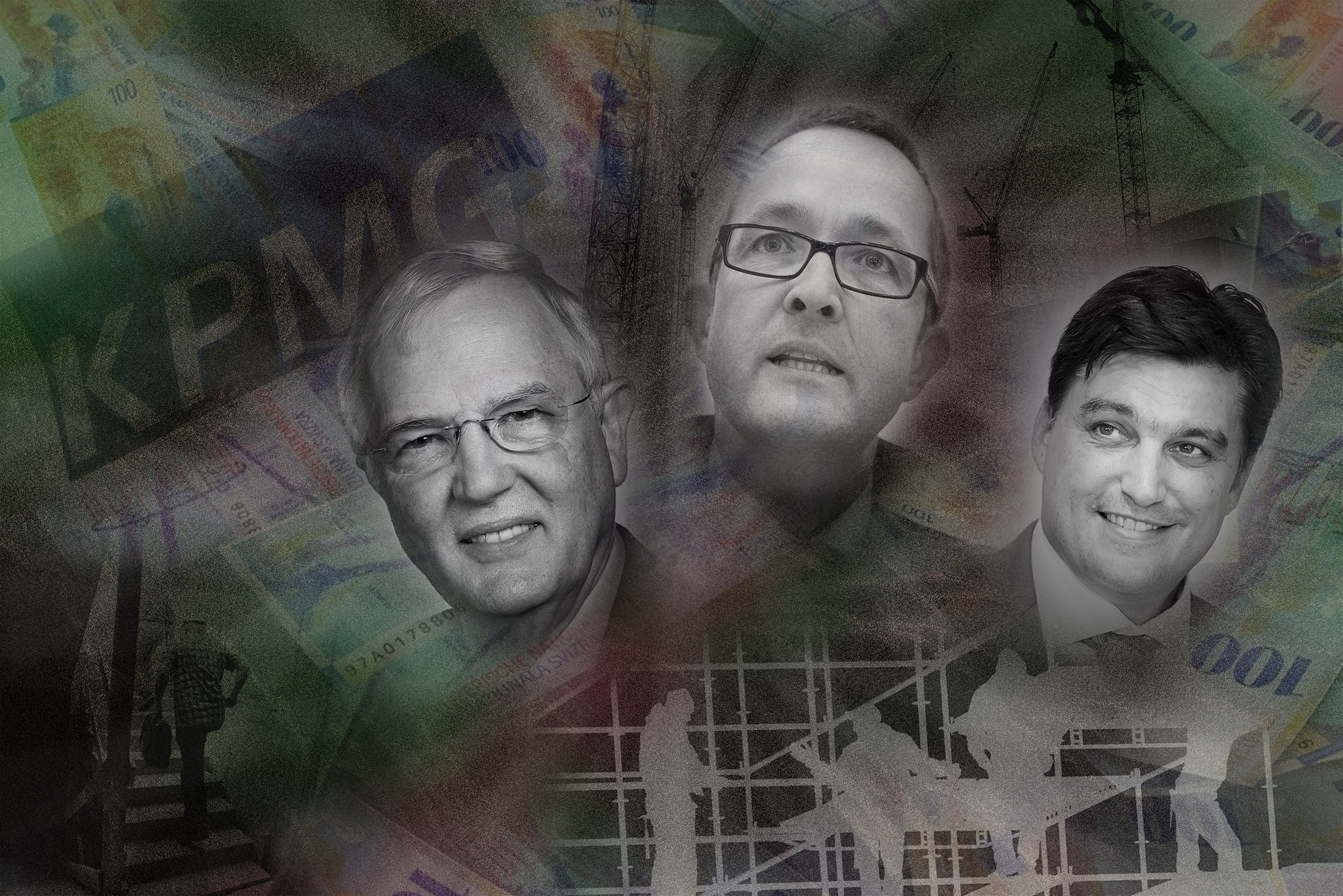 Geld, Macht, Gefälligkeiten: Hans Rudolf  Gysin, Thomas Weber und Christoph Buser.