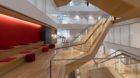 Treppenaufbauten in einem Neubau des neuen IT Innovationszentrums von Roche, beim Presserundgang am Standort in Kaiseraugst,