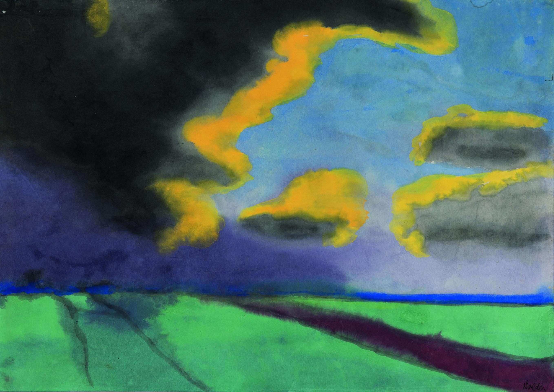 «Landschaft mit Wolken» von Emil Nolde aus dem Gurlitt-Legat im Kunstmuseum Bern.