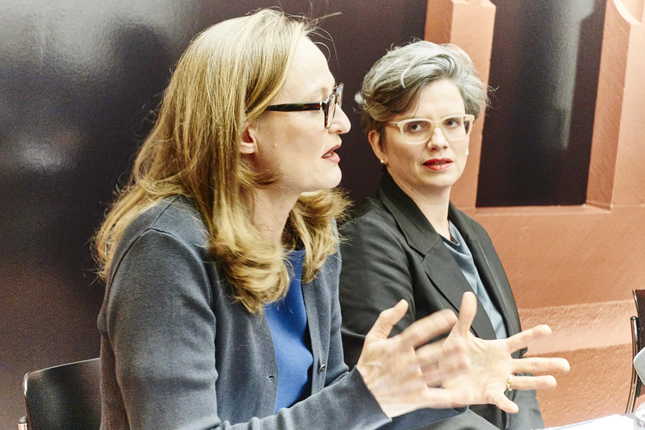Die neuen Basler Kulturchefinnen: Sonja Kuhn (links) und Katrin Grögel.