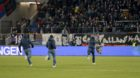 18.11.2017; Basel; Fussball Super League - FC Basel - FC Sion; Basel Fans springen mit einer Sion Fahne davon(Daniela Frutige