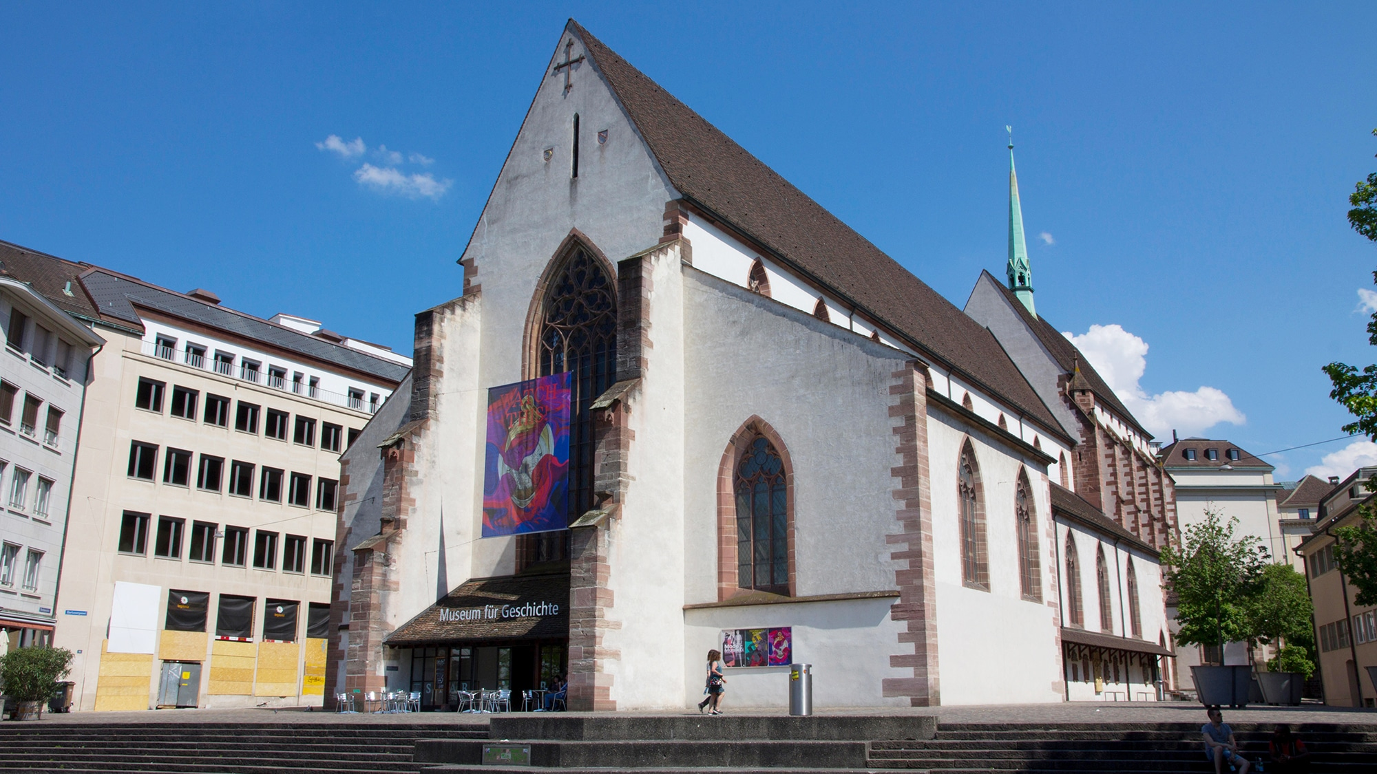 G7KYMN The Gothic-style former Barfusser Church houses Basel Historical Museum (Historisches Museum) where exhibits chronicle