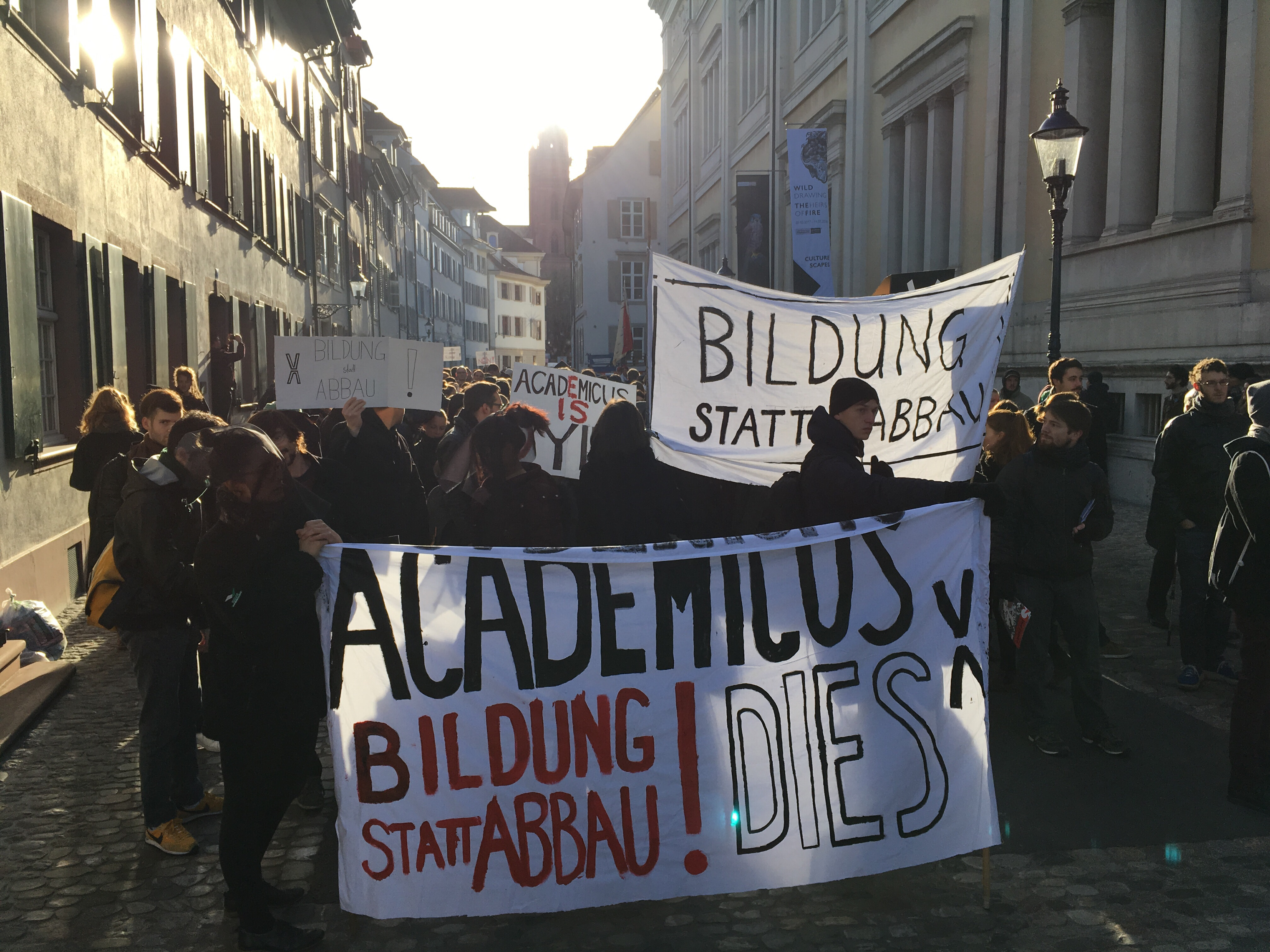 Der Protestzug der Studis am Freitag.