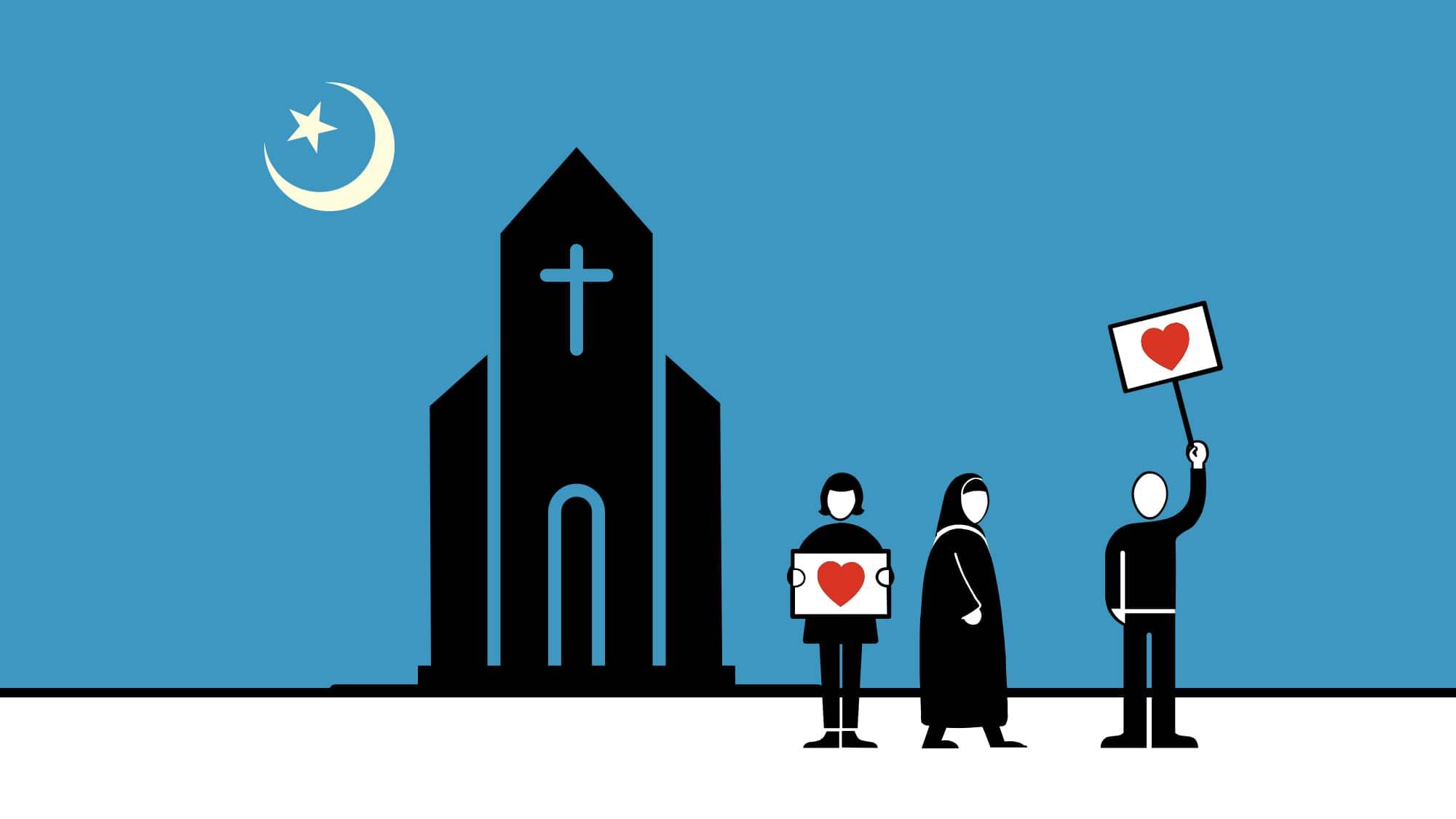 Erhöhter Bedrohungslage zum Trotz: Man hatte sich ziemlich lieb an der Islamdebatte in der Elisabethenkirche.
