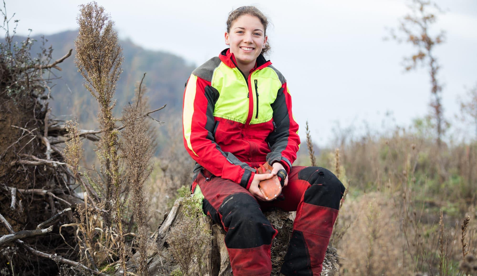 Sharon Möller ist die einzige weibliche Forstwartin der Bürgergemeinde BS.