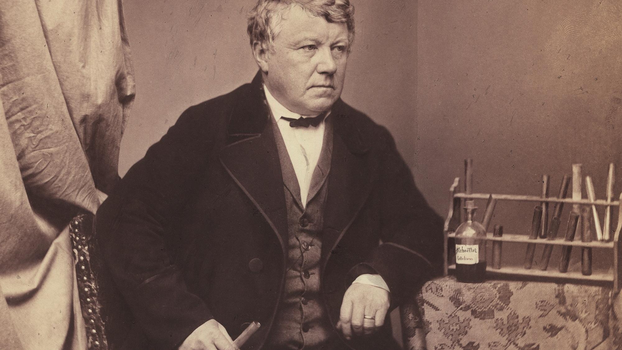 Christian Friedrich Schönbein (1799–1868) in einer Aufnahme von 1857.