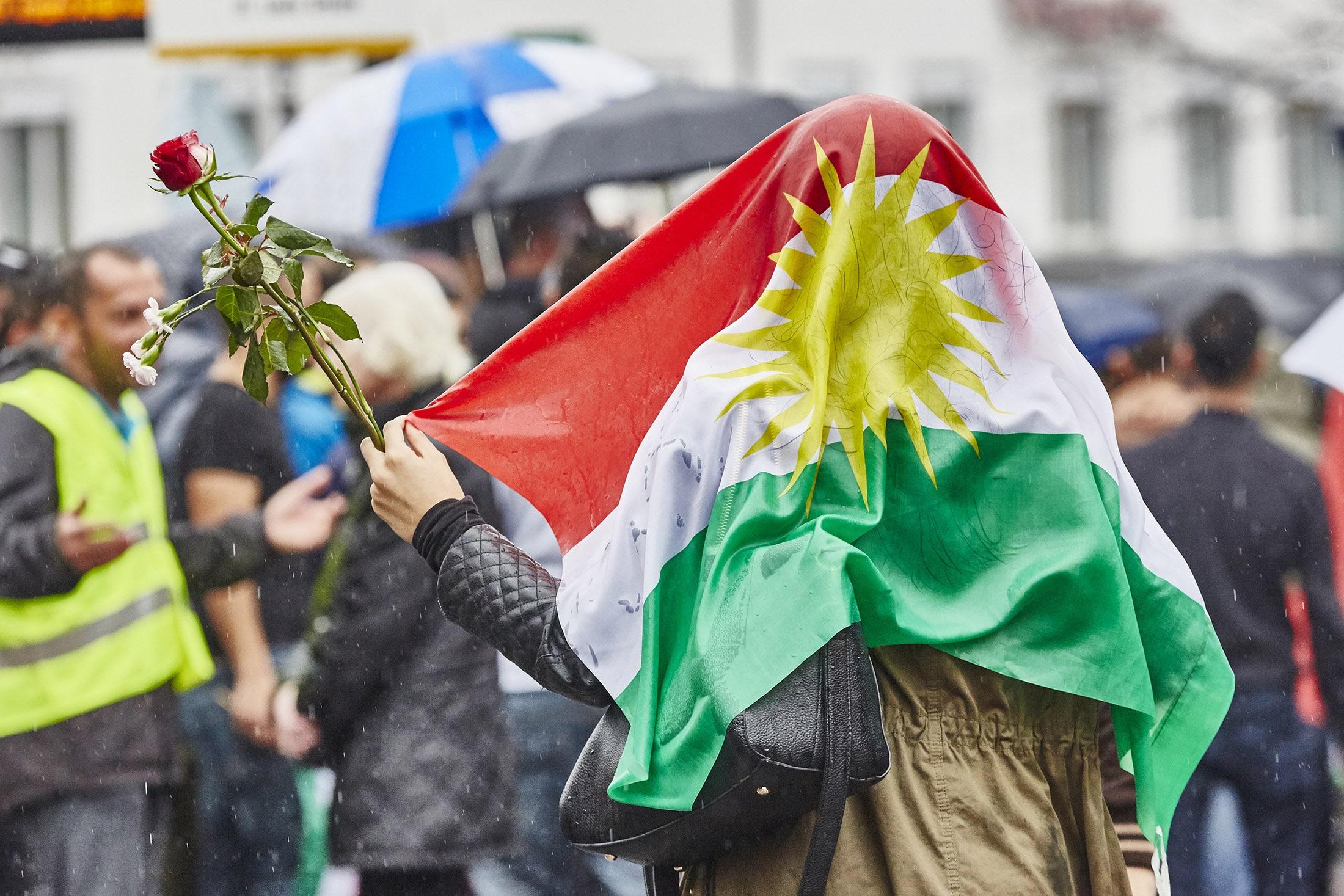 Basels Kurden sind von Erdogan eingeschüchtert: Gemeinsam auf die Strasse – wie hier im Herbst 2014 – trauen sie sich mo