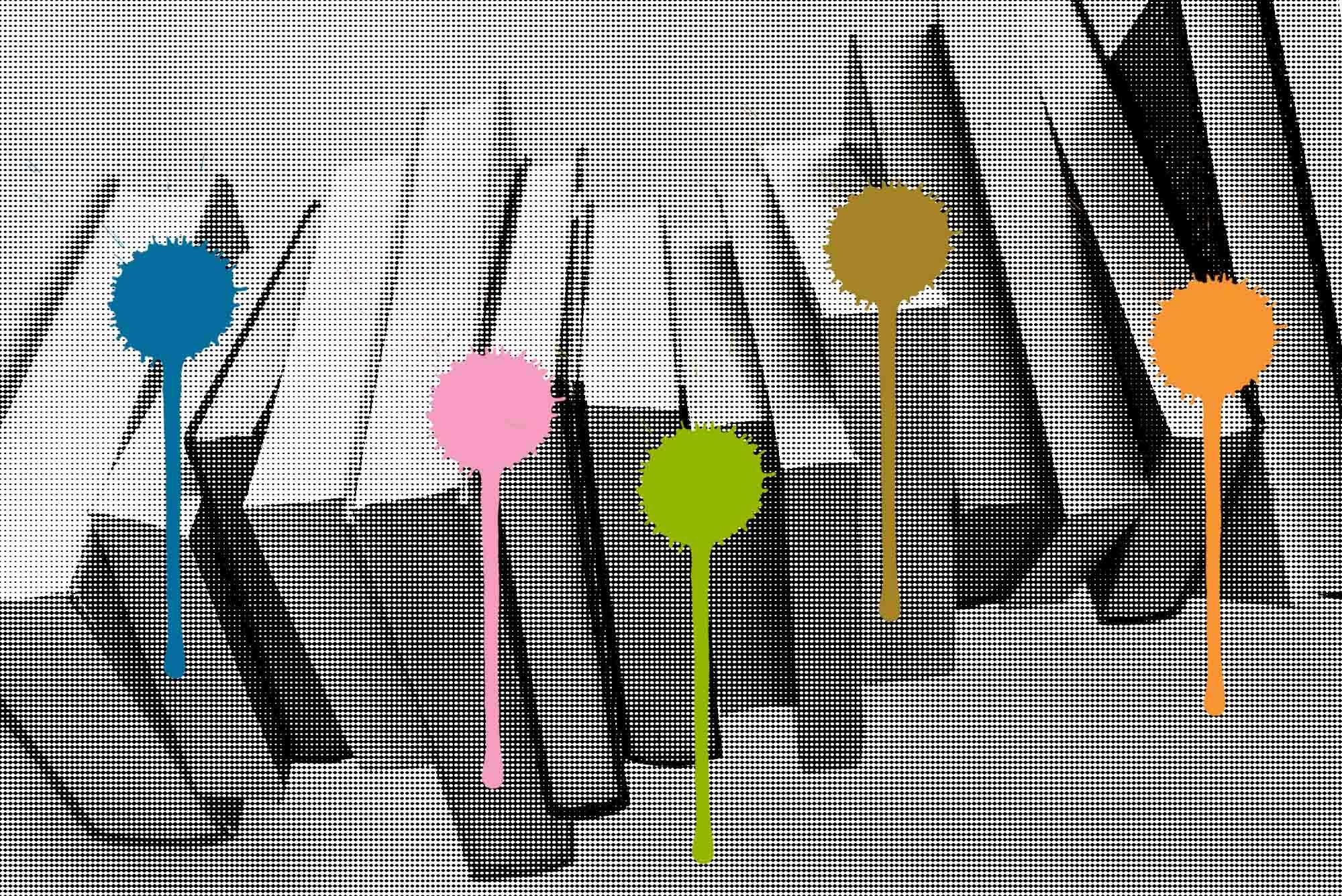 Die BuchBasel setzt Farbtupfer, wohin das Auge auch reicht.