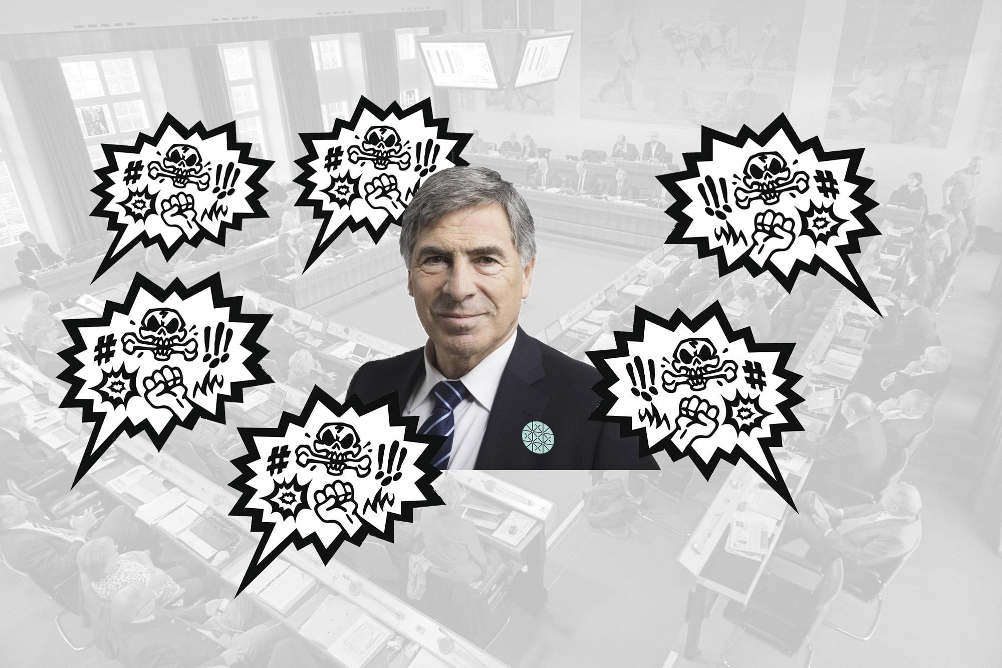 Eckt gerne an: Jetzt erhielt Christoph Eymann im Landrat die Quittung für seine provokativen Aussagen.