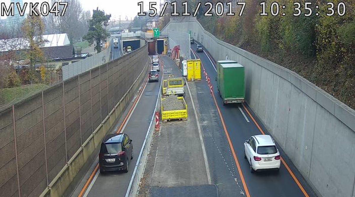 Portal Schänzli Süd: flüssiger Verkehr.