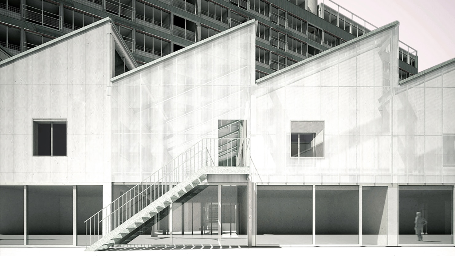 Visualisierung des Neubauprojekts Volta Ost.
