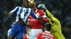 epa06362649 FC Porto's player Danilo Pereira (L) in action against Benfica's player Luisao (C), during their Portuguese First
