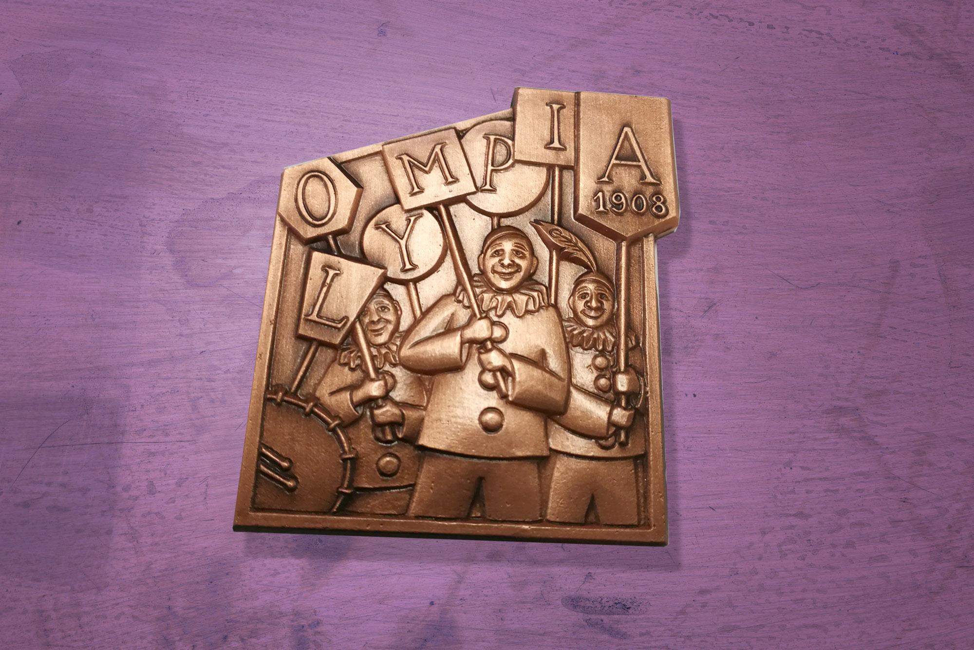 So sieht die Gegenplakette der Olymper aus. Für 8 Franken ist sie bei der  Clique zu haben.