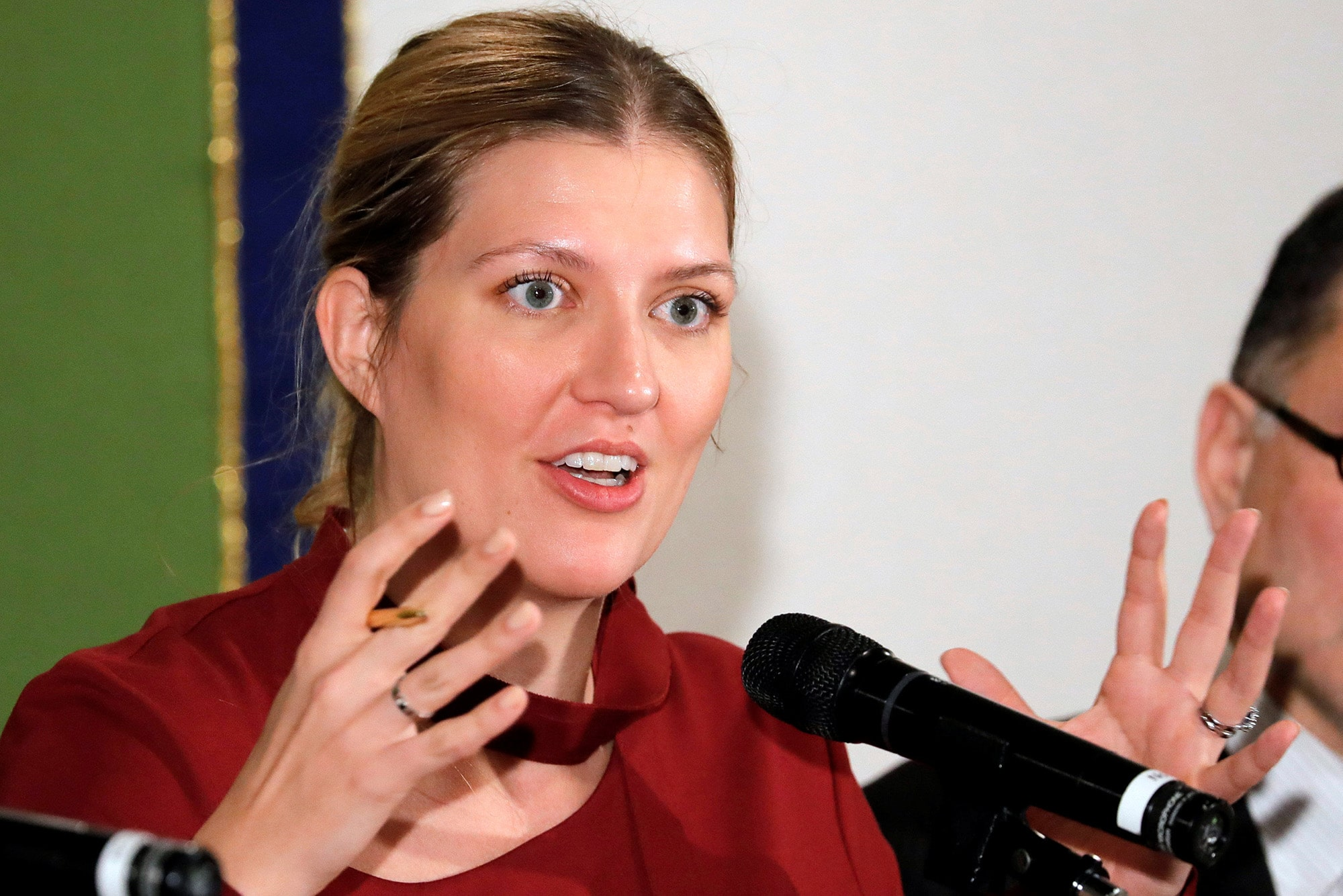 Beatrice Fihn, executive director of Nobel Peace Prize-winning International Campaign to Abolish Nuclear Weapons (ICAN), atte
