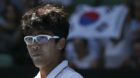 Tennis - Australian Open - Quarterfinals - Rod Laver Arena, Melbourne, Australia, January 24, 2018. Chung Hyeon of South Kore