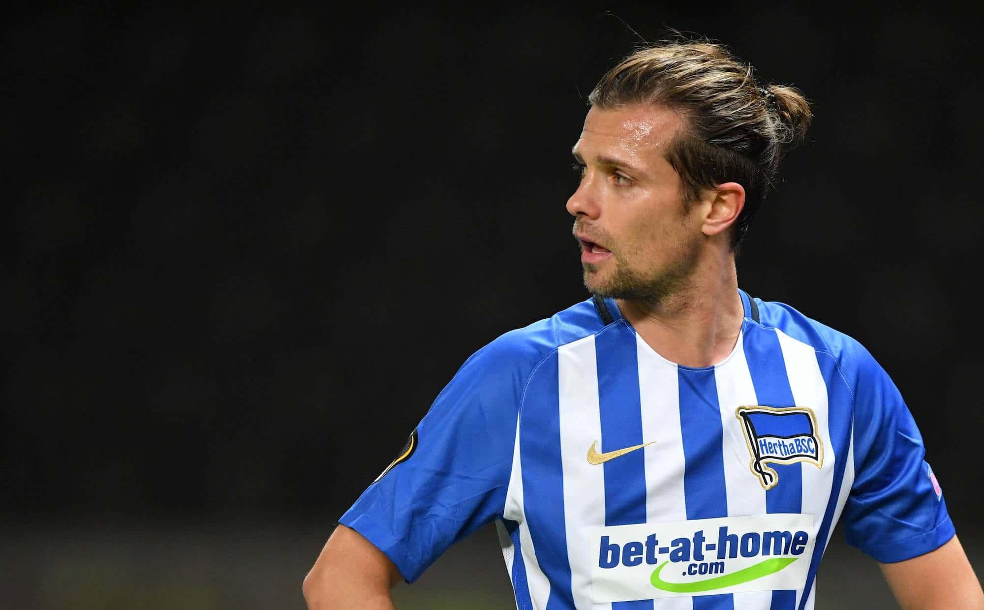 Valentin Stocker (Hertha BSC), Hertha BSC Berlin - Sorja Luhansk Europa League, Gruppenphase, 1. Spieltag, Fuflball, Fussbal