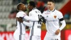 10.02.2018; Thun; Fussball Super League - FC Thun - FC Basel; Jubel bei Geoffroy Serey Die, dem Torschuetzen zum 0:1 Dimitri