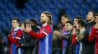 13.02.2018; Basel; Fussball Champions League - FC Basel - Manchester City FC; Enttaeuschung bei Michael Lang (Basel) und dem