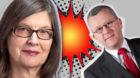Unflätige Attacke: Parteischwergewicht Rudolf Steiner fordert Parteischwergewicht Silvia Schenker aggressiv zum Rücktritt a