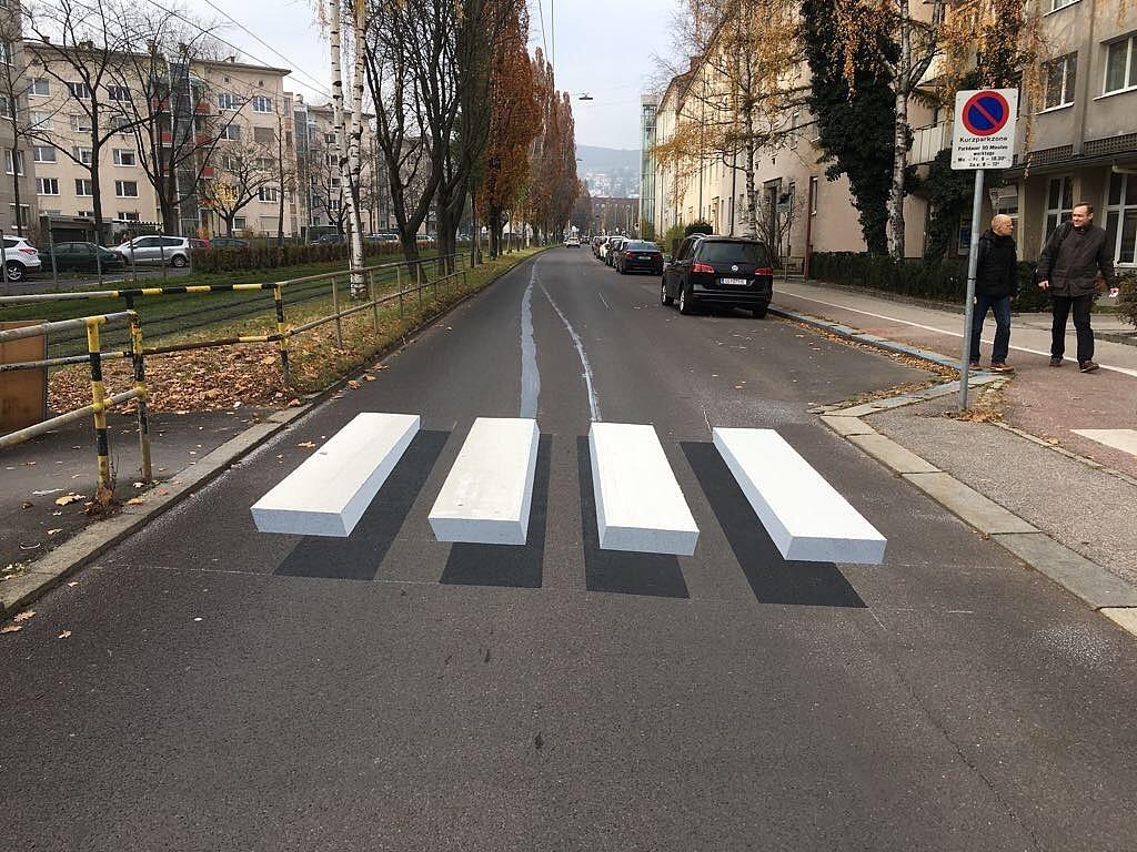 Ein 3D-Streifen in Österreich: So könnte das theoretisch bald in Basel-Stadt aussehen.