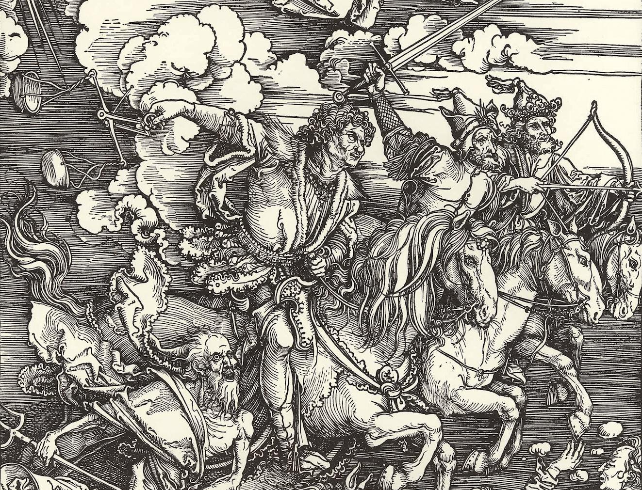 Hoffnung und Ängste: «Die vier apokalyptischen Reiter» von Albrecht Dürrer.