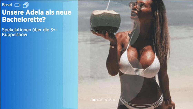 Runde Geschichte: Die «Telebasel»-Wetterfee beschäftigt «Telebasel».