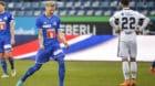 11.03.2018; Luzern; FUSSBALL SUPER LEAGUE - FC Luzern - FC Basel;Marvin Schulz (Luzern) jubelt nach dem Schlusspfiff. Rechts