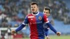 18.03.2018; Basel; Fussball Super League - FC Basel - FC Sion; Albian Ajeti (Basel) jubelt nach dem Tor zum 1:0 (Giuseppe Esp