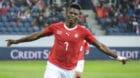 27.03.2018; Luzern; FUSSBALL - Fussball Laenderspiel - Schweiz - Panama;Breel Embolo (Schweiz) jubelt nach dem Tor zum 3:0(