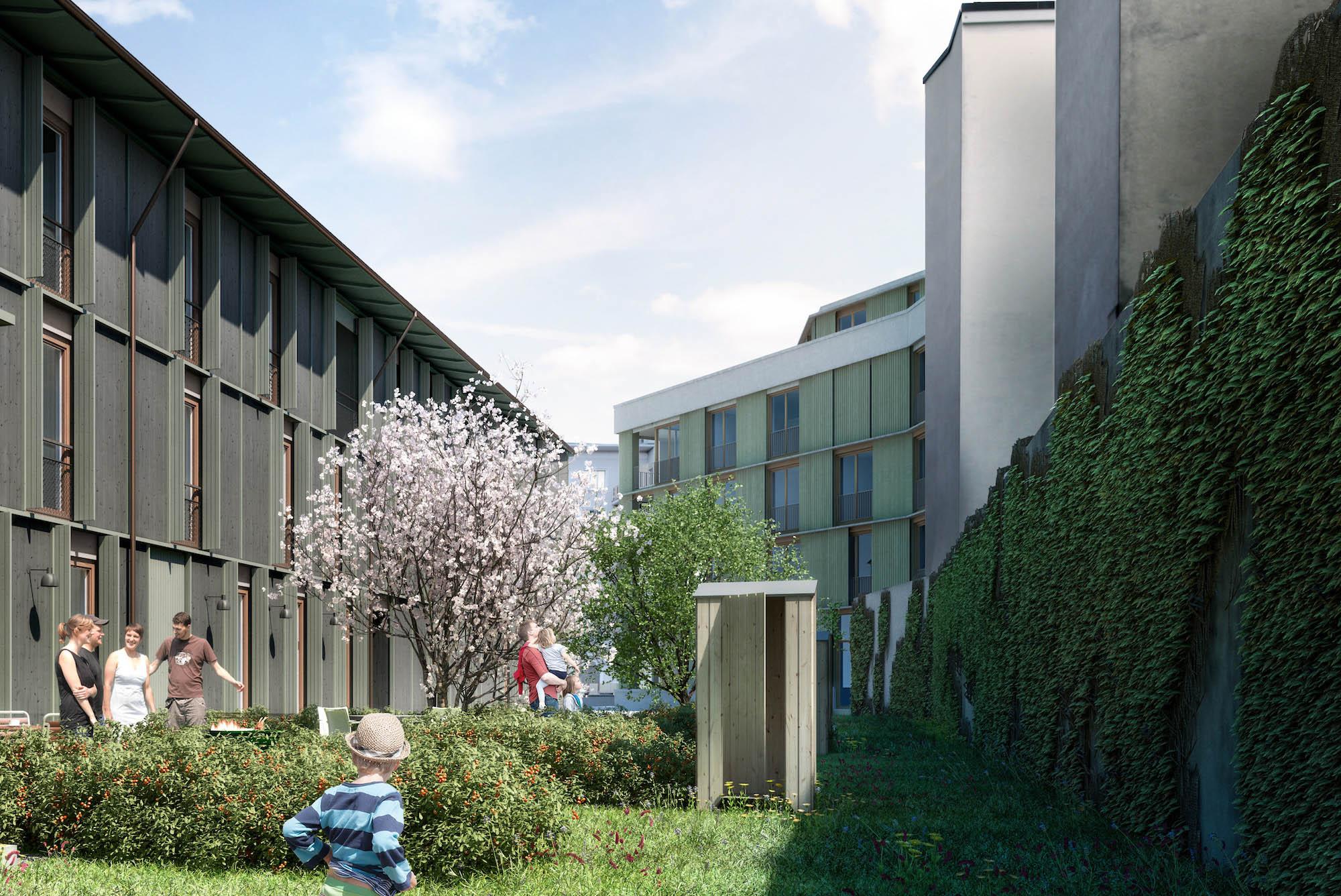 55 Wohnungen werden an der Maiengasse/Hebelstrasse vermietet. 28 davon mit Bonus.