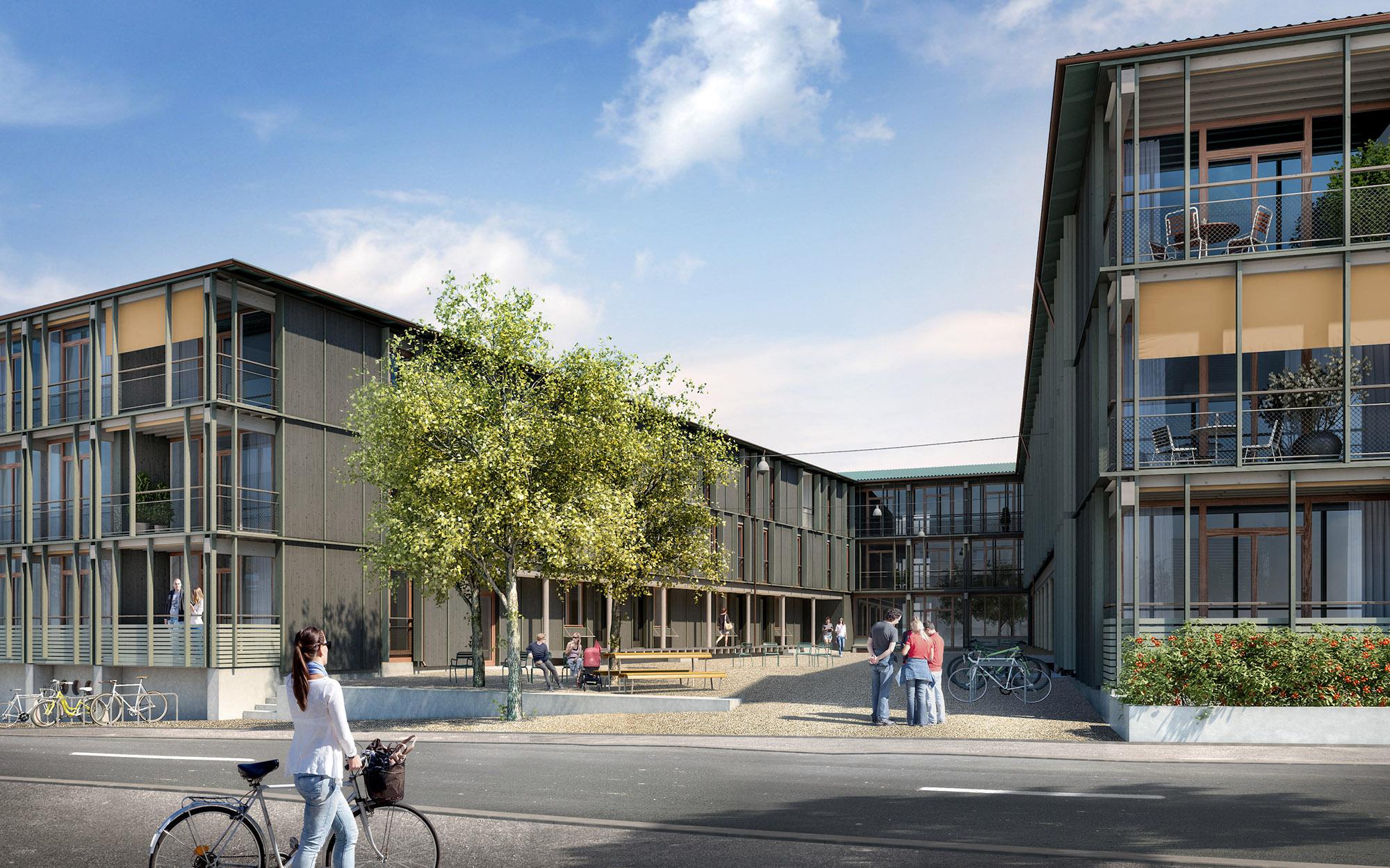 Ab September bezugsbereit: Die 55 neuen Wohnungen an der Maiengasse/Hebelstrasse.