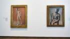 Die beiden geretteten Schlüsselwerke von Picasso: «Les deux frères» und «Arlequin assis».