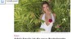 Auf diesem Bild ist sie noch weg, obwohl sie bereits wieder zurück ist: Bachelorette und Wetterfee Adela Smajic.