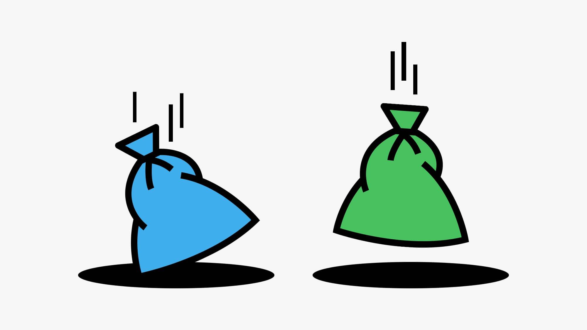 Mit dem neuen System der verschiedenfarbigen Säcken soll künftig in Basel-Stadt auch Bioabfall in den Unterflurcontainern e