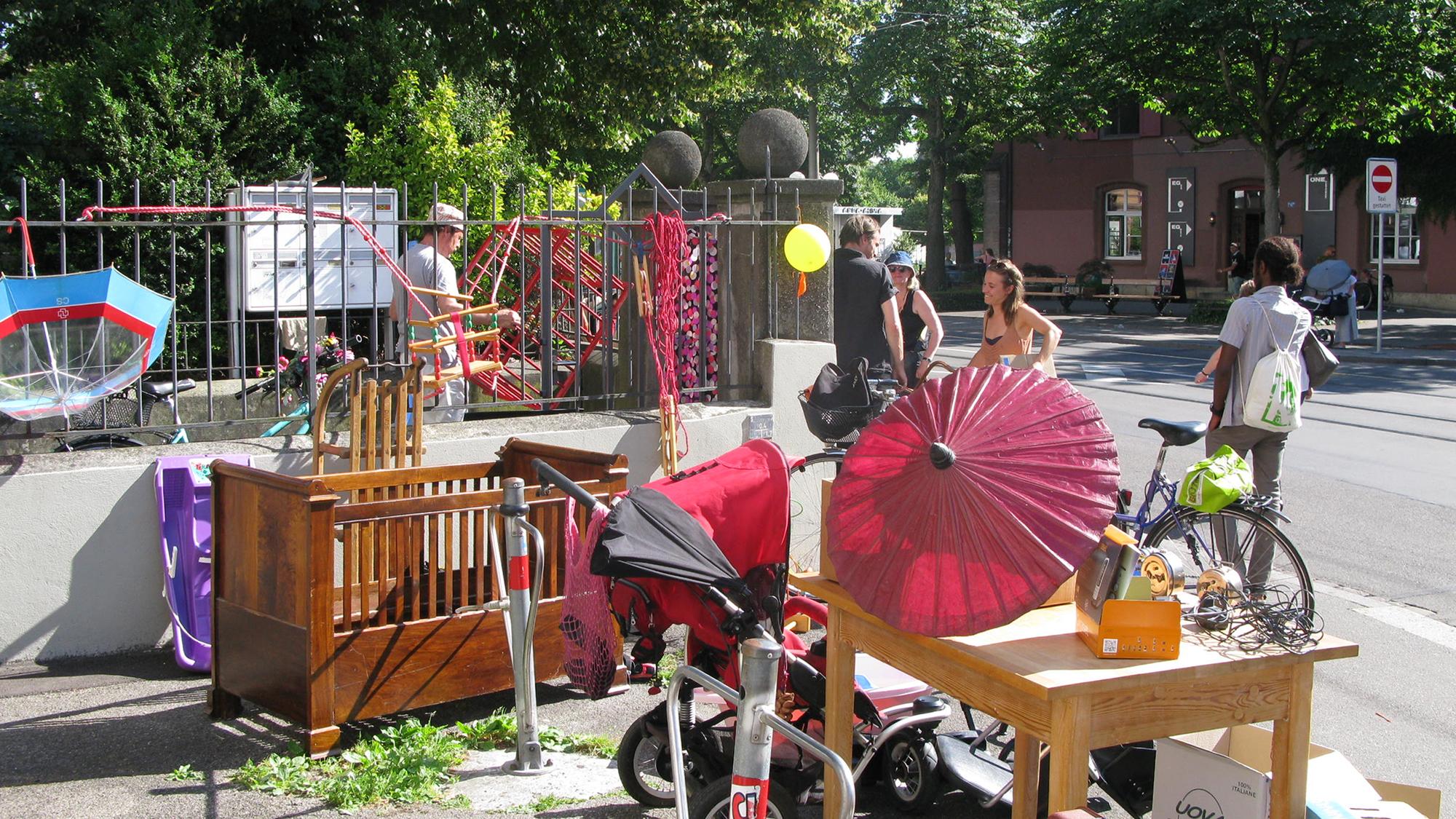 Ein Quartierspaziergang als Shopping-Tour – am Samstag im Kleinbasel.