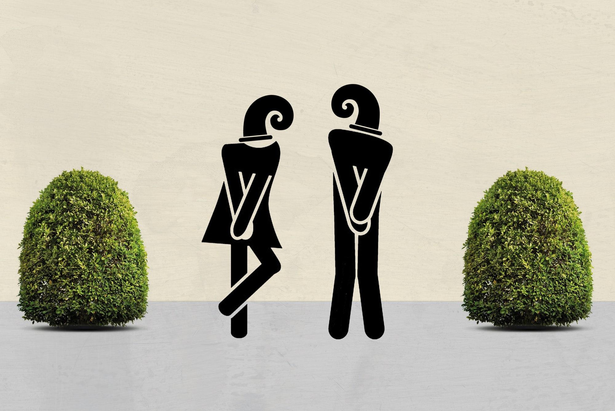 Urinieren statt sich zieren.