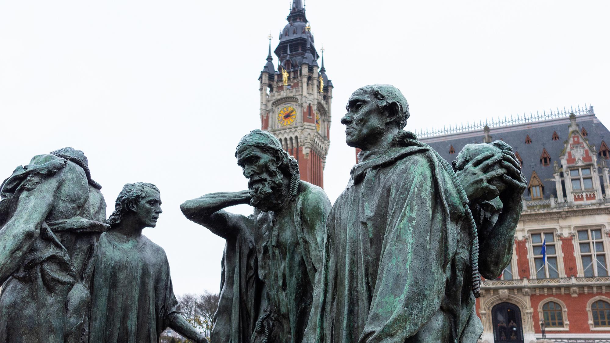 Diese edlen Bürger stehen auch in Basel, kommen aber aus Calais.