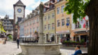 Unterwegs in der Innenstadt von Freiburg im Breisgau