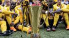 13.05.2018; Bern; Fussball Super League - BSC Young Boys - FC Lugano;Der Meisterpokal Der BSC Young Boys ist Schweizer Fussb