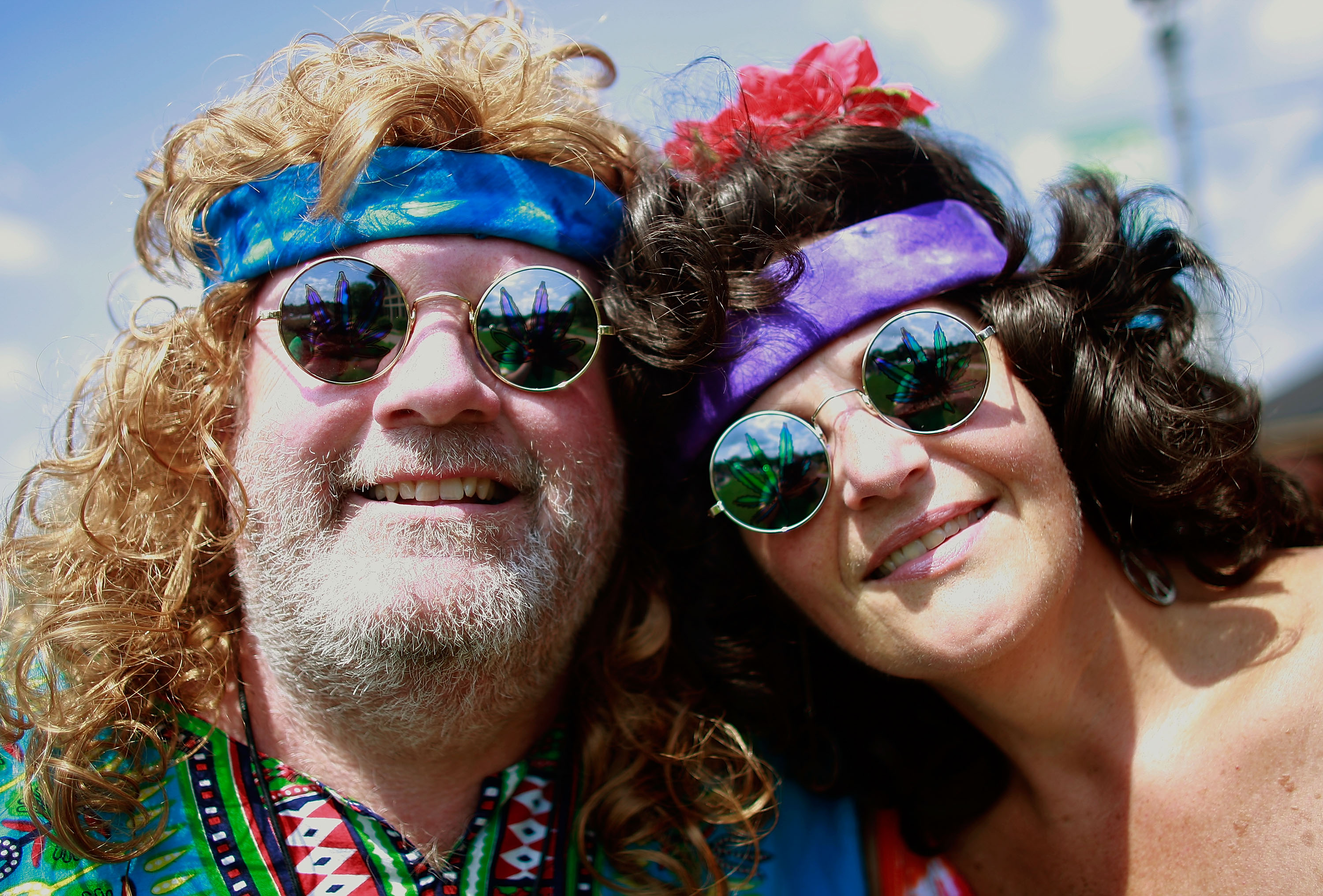 BETHEL, NY - AUGUST 15: Judy Remo and John Micik wait to attend the concert marking the 40th anniversary of the Woodstock mus