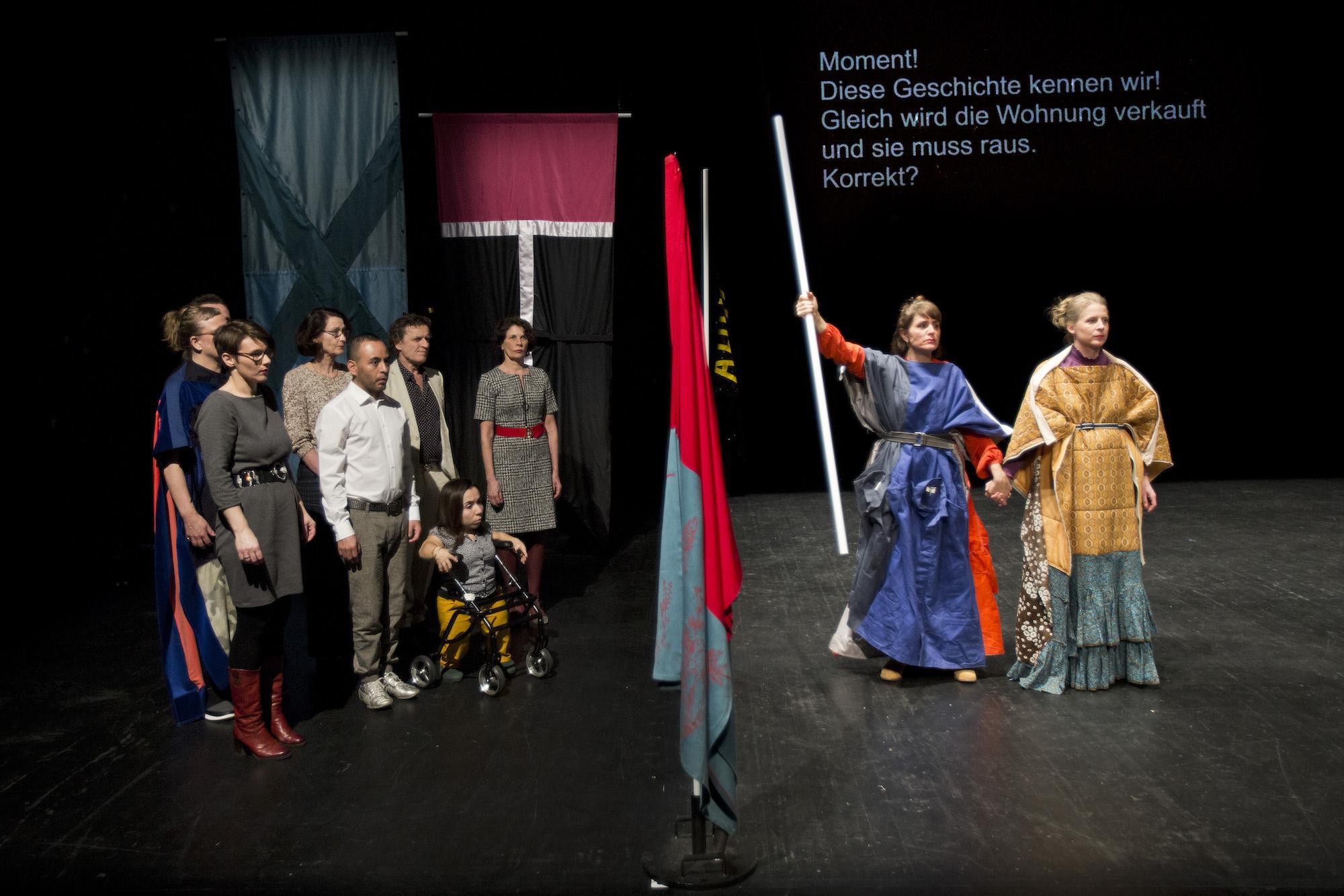 «Oratorium» von She She Pop: Szenenbild mit der Berliner Besetzung.