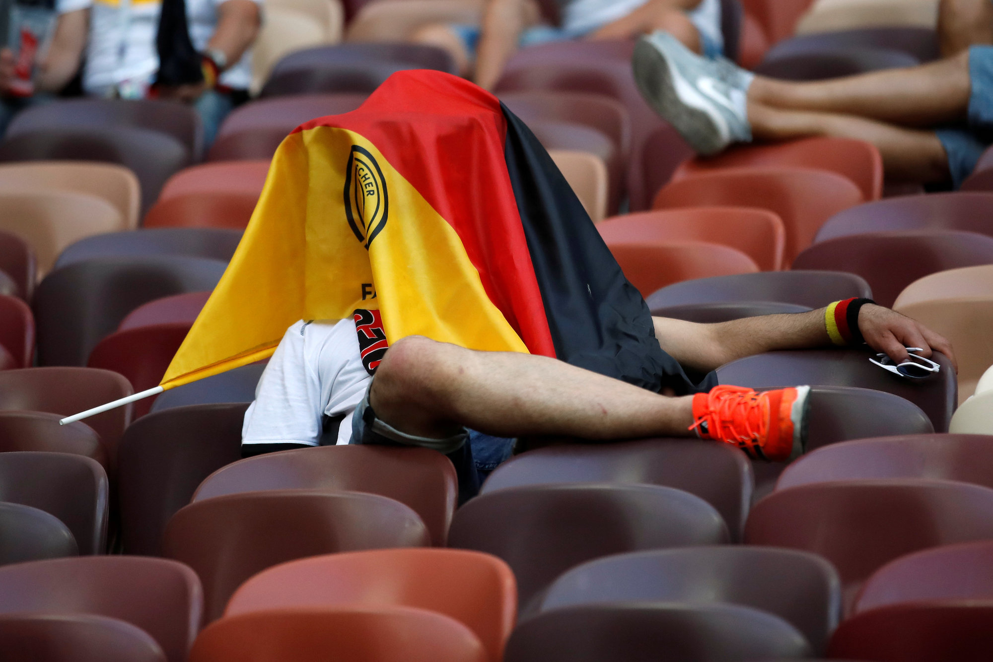 Soccer Football - World Cup - Group F - Germany vs Mexico - Luzhniki Stadium, Moscow, Russia - June 17, 2018   Germany fan co