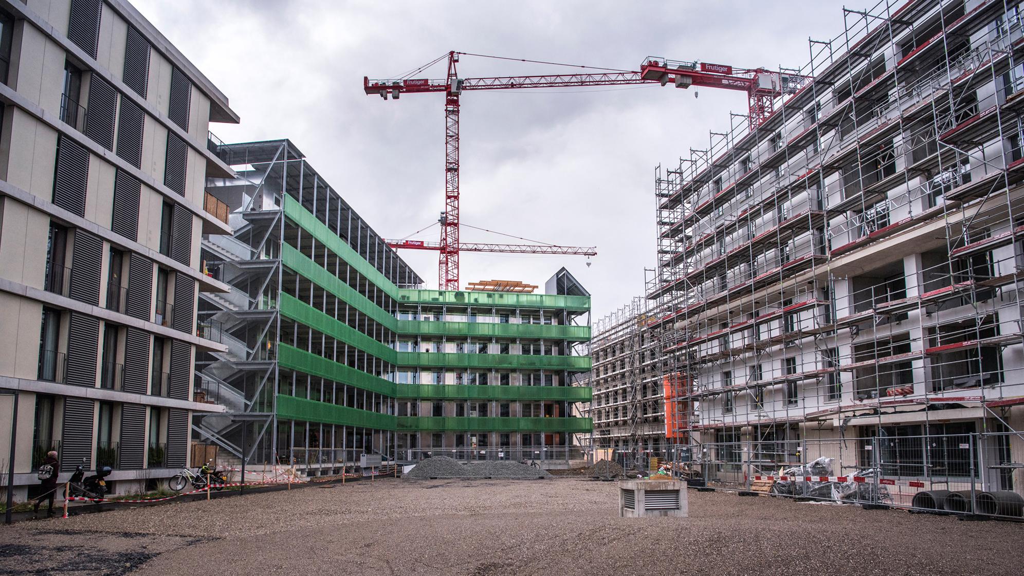 Beim Erlenmattareal entstanden etwa 600 neue Wohnungen – gemeinnützig war davon keine.