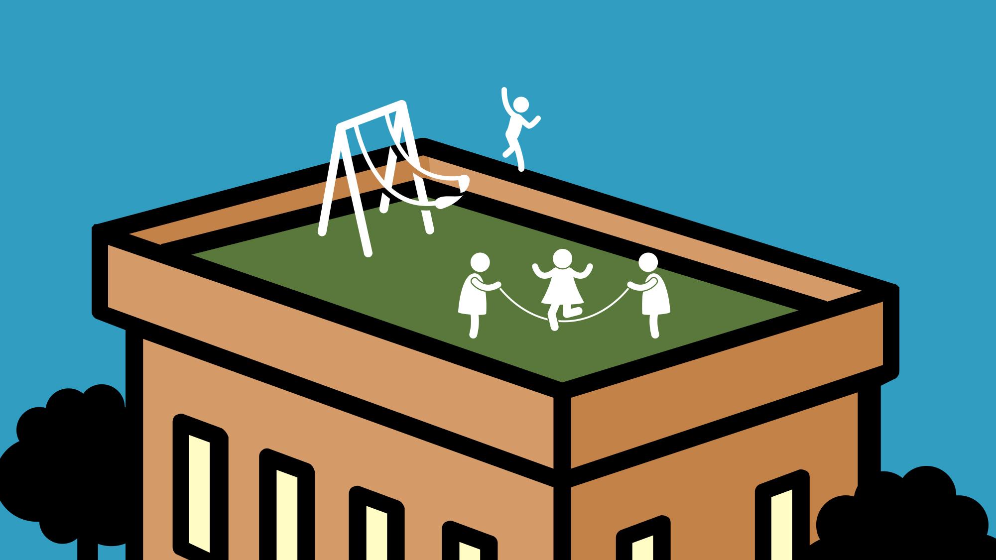 Lehrerinnen und Eltern wehren sich gegen den Pausenplatz auf dem Dach.
