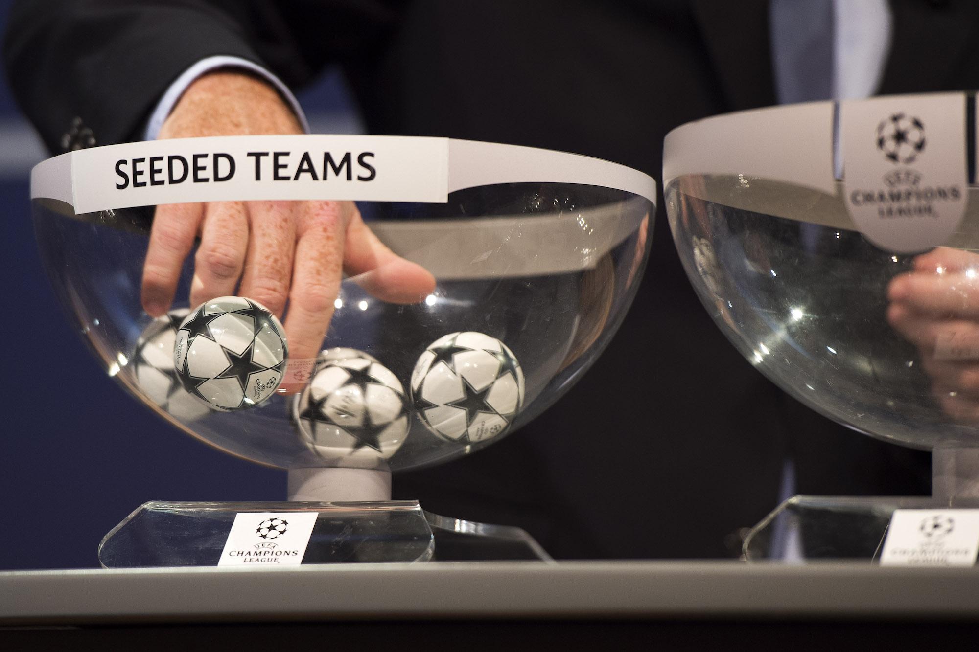 17.07.2015; Nyon; Fussball UEFA - Auslosung Champions League und Europa League; Auslosung fuer die dritte Qualifikationsrund